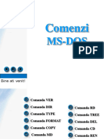 Comenzi MS DOS
