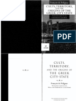 FranCois de Polignac-Cults, Territory, And the Origins of the Greek City-State-University of Chicago Press (1995)