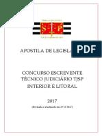 APOSTILA DE LEGISLAÇÃO - ESCREVENTE TJSP INTERIOR 2017.pdf