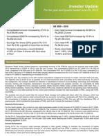Q4 FY 10 Investor Update
