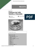 Receta de Cremoso de Café, Vainilla y Chocolate - elgourmet