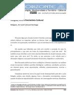 Leite, Ilka Boaventura. Religião, Arte e Patrimônio Cultural
