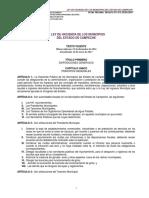 Ley Hacienda Municipios Estado Campeche