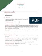 Notes on Undergraduate Combinatorics