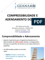 Aula 3 - Compressibilidade e Adensmento Do Solo (1)