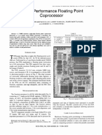 A High Performance Floating Point Coprocessor
