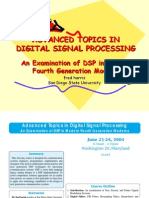 Advanced Topics in Digital Signal Processing