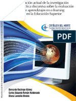 Situación actual de la investigación y la práctica discursiva sobre la evaluación de aprendizajes en e-learning en la educación superior