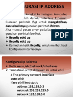 Konfigurasi IP Address
