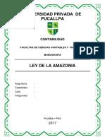 Monografia Ley de La Amazonia Actualizada