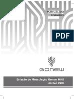 Manual de Instruções Estação de Musculação MK8 GONEW