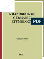Orel - A Handbook of Germanic Etymology