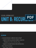 Unit 8- Recursion