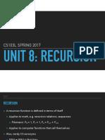 Unit 8- Recursion