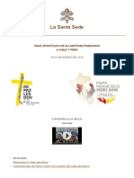 Viaje Apostólico de Su Santidad Francisco a Chile y Perú [Lu 15 a Lu 22 Ene 2018]