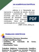 Trabalhos Acadêmicos e Formatação
