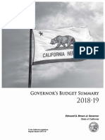 California Budget Summary 2018-19