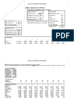 Excel Modeling on Capital budgeting