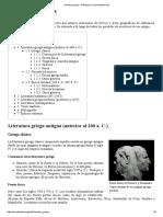 Literatura Griega - Wikipedia, La Enciclopedia Libre