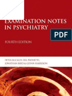 Examination Notes in Psychiatry