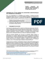 Acusación por Infracción Constitucional PCM, MINSA y MINJUS