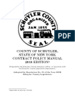Schuyler County Contract Policy Manual 2018