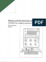 Babylog 8000-8000sc-8000 Plus Ventilador de Cuidados Intensivos de Neonatos