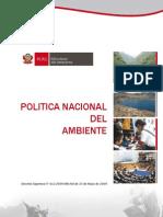 Politica Nacional Del Ambiente