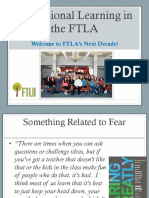 Professional Learning in the FTLA