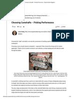 Choosing Camshafts – Picking Performance - Engine Builder Magazine