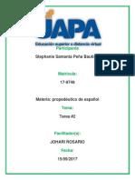 propedeutico de Espanol Tarea No 2 de Stephanie Samanta Peña Bautista.docx