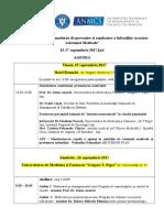 Agenda Conf. Iaam 15-17 Septembrie 2017