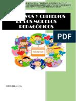 Objetivos y Criterios de Los Modelos Pedagógicos