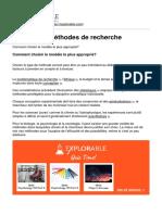 Differentes Méthodes de Recherche -