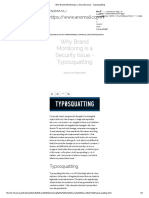 Why Brand Monitoring is a Security Issue - Typosquatting.pdf