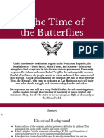 in the time of the butterflies creative response