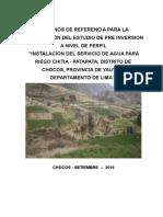 Tdr Sistema de Riego Chitiapunta-uvaspata