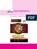 Padma Achievers 2016