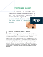Udp Marketing Marketing de Rumor