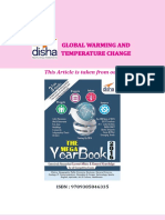 Article on Global Warming and Temperature Change
