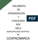 Reglamento de Organizacion y Funciones Rof