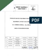 Iqwq Ce1092 Mpere 00 0005_0 Equipment Lifting Plan (Pump)设备(泵)吊装计划