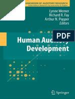 (Springer Handbook of Auditory Research volume Vol. 43) Lynne Werner, Richard R. Fay, Arthur N. Popper-Human Auditory Development (2012).pdf