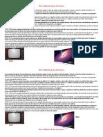 Breve Historia de Los Televisores