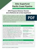 Pacific Coast Pipeline Fact Sheet Spanish