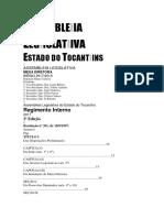 Regimento Interno Assembleia Legislativa Do Tocantins 2017a2019
