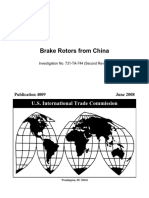USITC Publication 4009 Brake Rotors From China (Second Review) June 2008