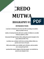 Credo Mutwa - Biography