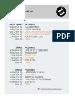 Programacion Ciudad La100 2018