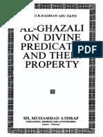 (Al-Ghazali) 'Abdu-r-Rahman Abu Zayd. Al-Ghazali on Divine Predicates and Their Property (1990)